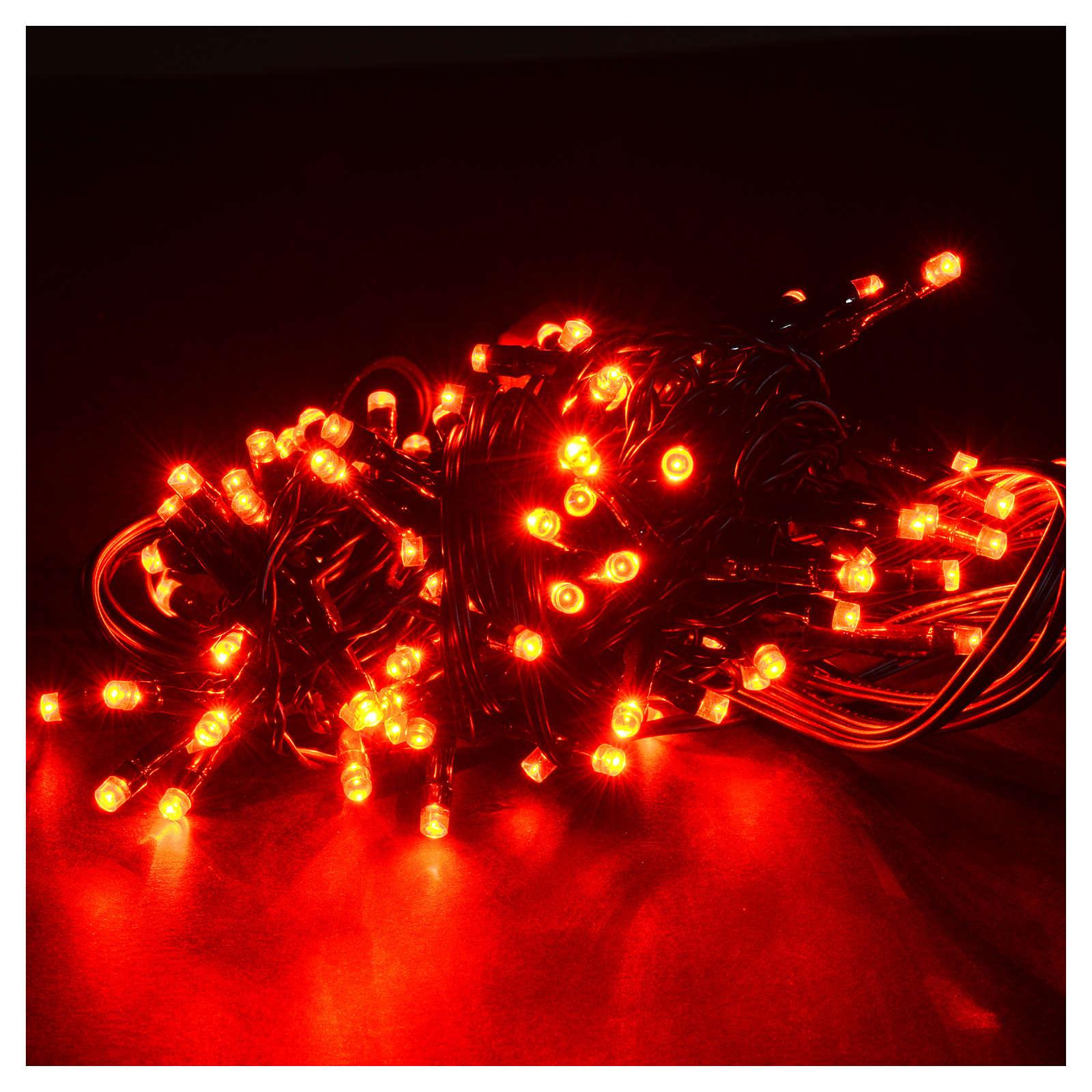 Luce natalizia 96 led programmabili rosse interno/esterno 3