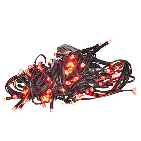 Christmas lights 96 LED lights, red for indoor/outdoor use, prog s1