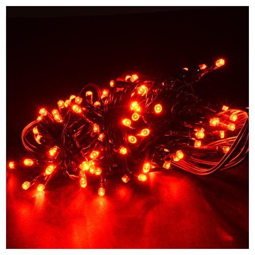 Christmas lights 96 LED lights, red for indoor/outdoor use, prog 2