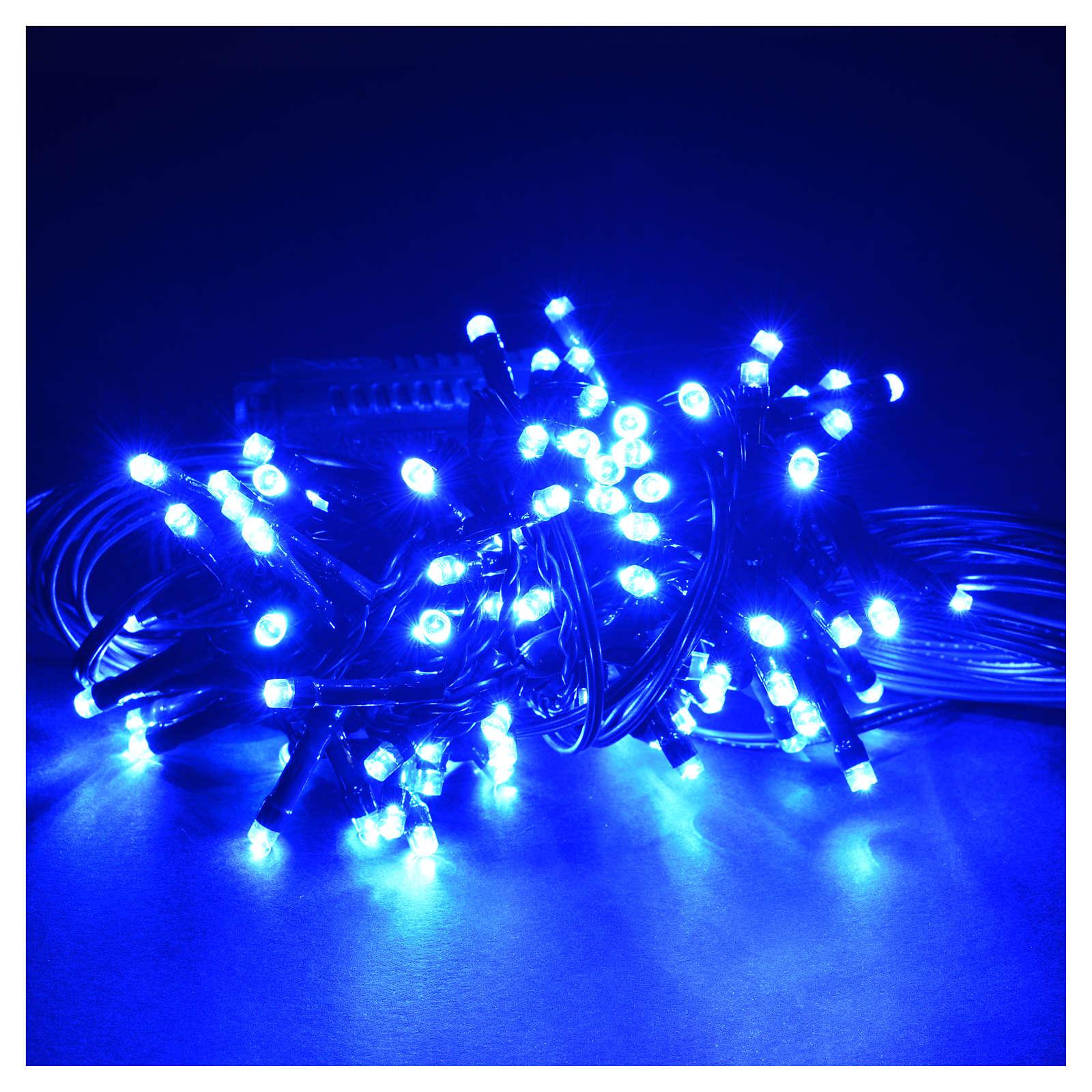 Luce natalizia 96 led programmabili blu interno/esterno 3