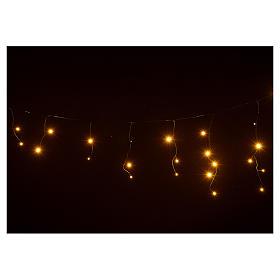 Rideau lumineux stalactites blanc chaud 60 leds extérieur s4