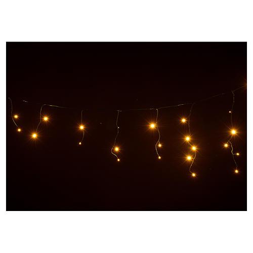 Rideau lumineux stalactites blanc chaud 60 leds extérieur 4