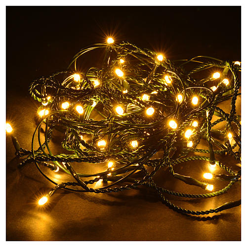 Luce Natale tenda ice 60 led, bianco caldo programmabili esterno 2