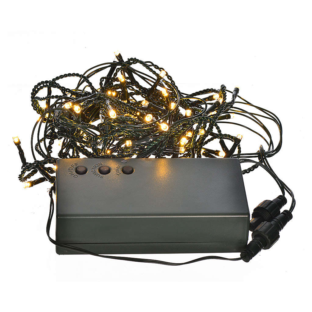 Christmas lights, LED curtain, 60 LED, warm white, programmable, 3