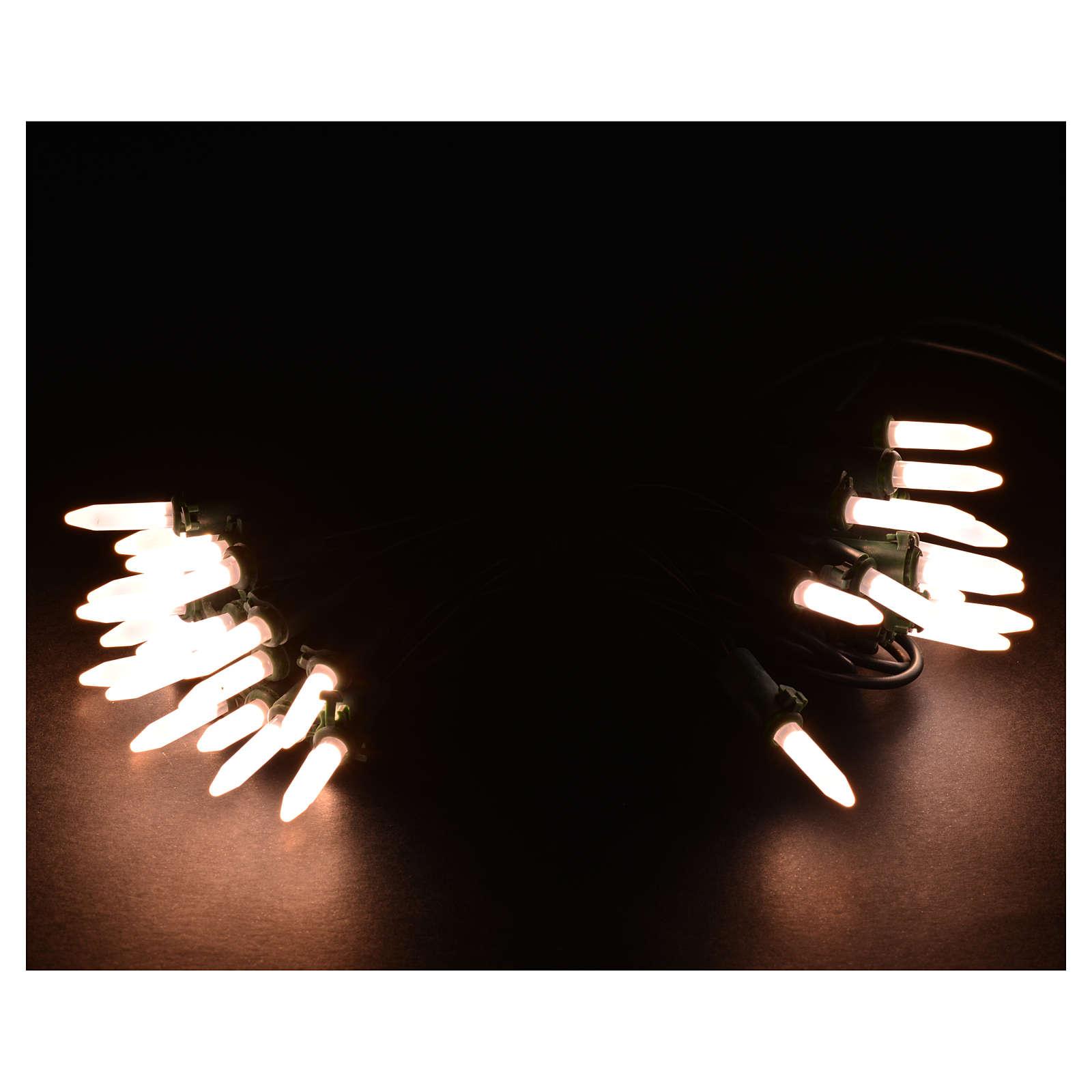 Luces de Navidad 35 LED blanco cálido tipo Arroz para interior 3