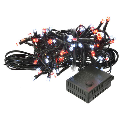 Christmas lights 96 LED, red and white, for outdoor/indoor use, programmable 1