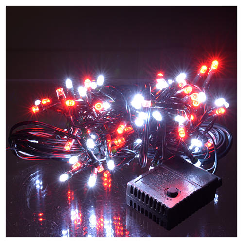 Christmas lights 96 LED, red and white, for outdoor/indoor use, programmable 2