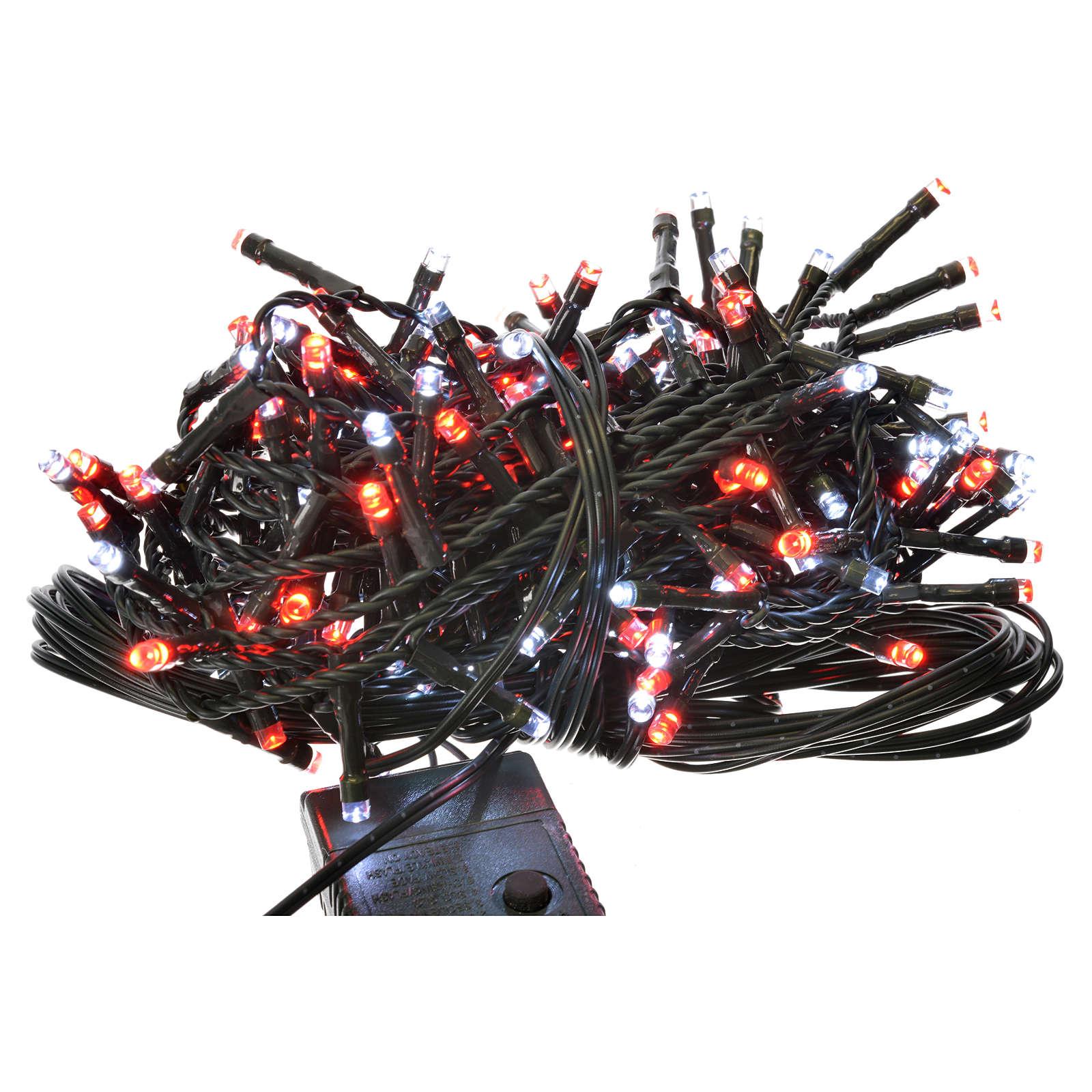 Luces de Navidad 180 LED blanco hielo y rojas programables 3