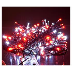 Luces de Navidad 180 LED blanco hielo y rojas programables s2