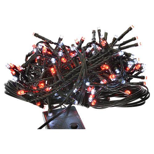 Luces de Navidad 180 LED blanco hielo y rojas programables 1