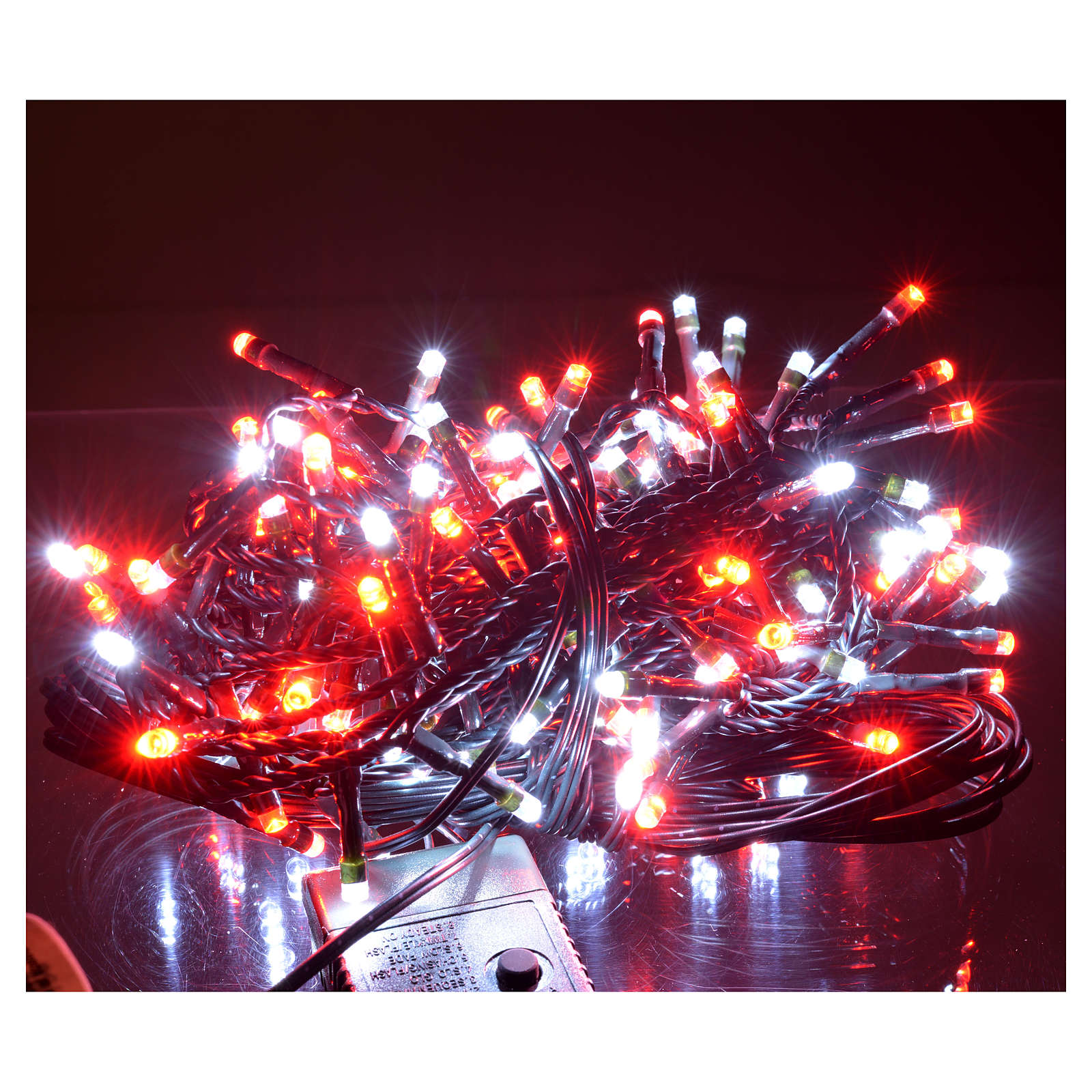 Guirlande lumineuse 180 leds glace rouge int/ext programmable 3
