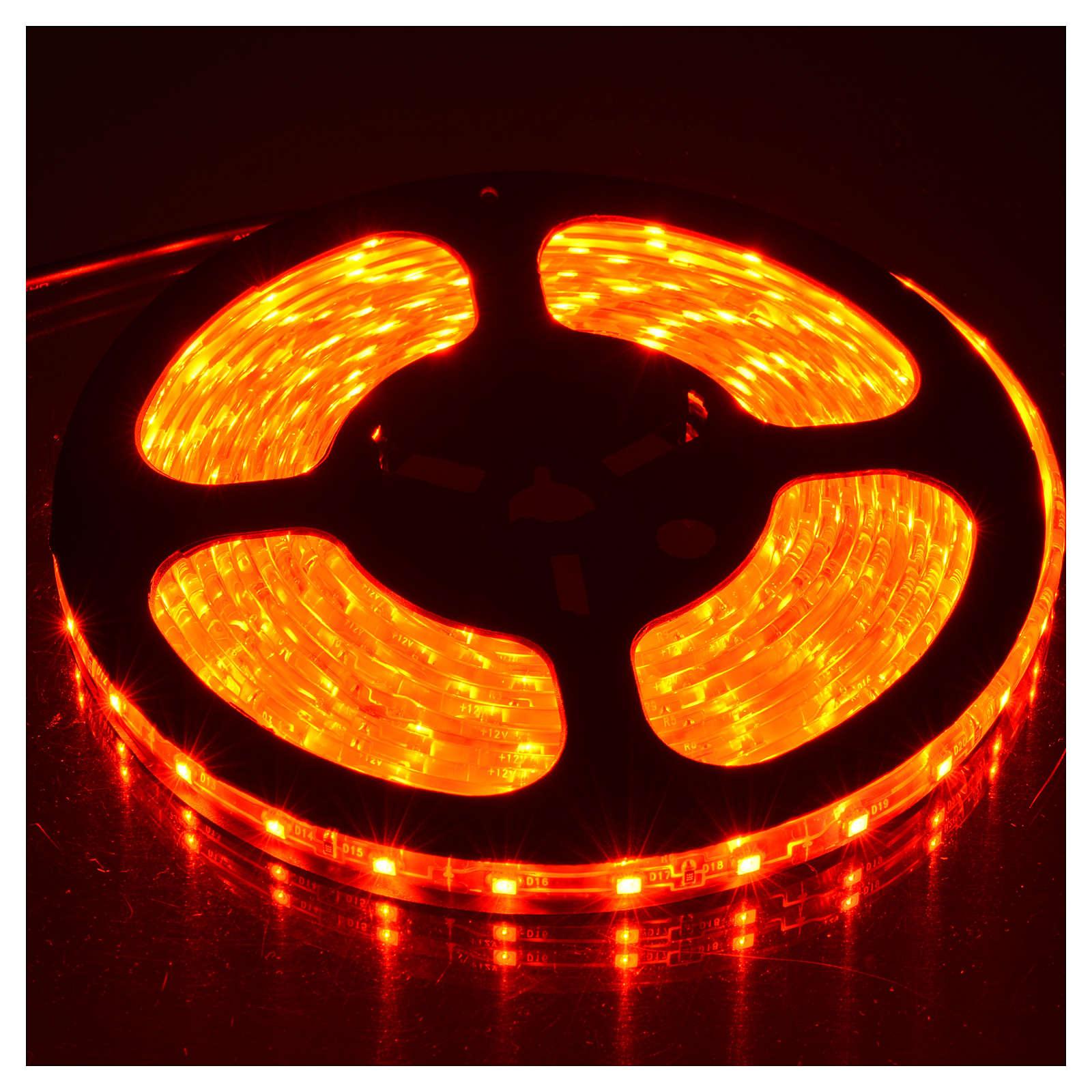 Tiras 5 m luces de Navidad 300 LED rojas adhesivas y flexibles para interior 3