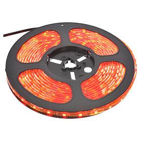 Tiras 5 m luces de Navidad 300 LED rojas adhesivas y flexibles para interior s1