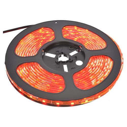 Tiras 5 m luces de Navidad 300 LED rojas adhesivas y flexibles para interior 1
