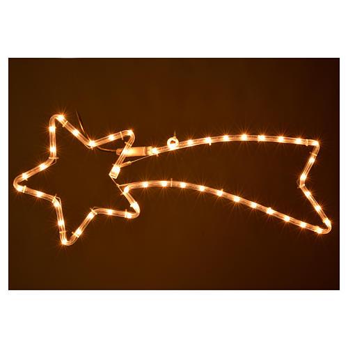 Stella cometa luminosa lampada bianco chiaro esterno 2