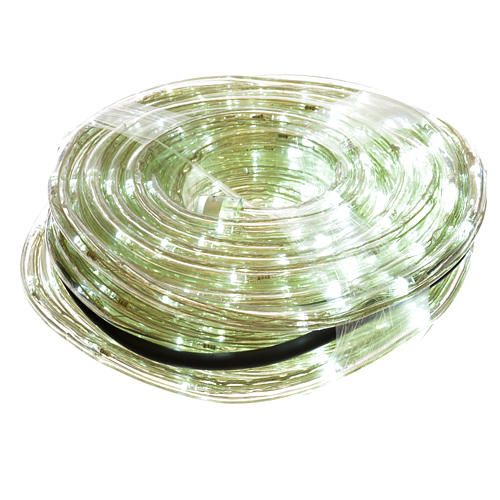 Christmas lights, tube of 15m, ice white, for indoor and outdoor use, programmable 1