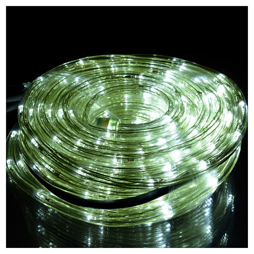 Christmas lights, tube of 15m, ice white, for indoor and outdoor use, programmable 2
