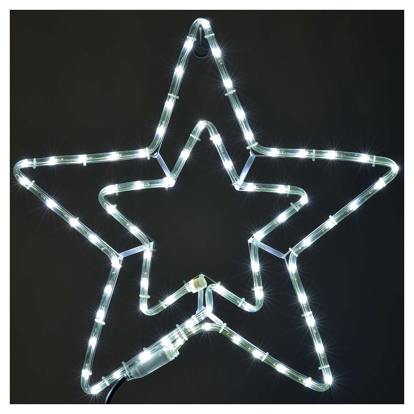 Stella doppia luminosa esterno bianco ghiaccio 3