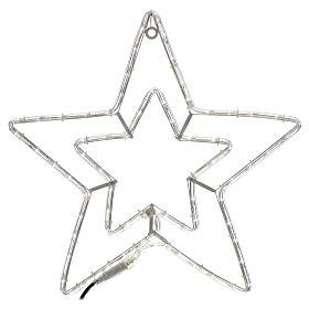 Stella doppia luminosa esterno bianco ghiaccio s1