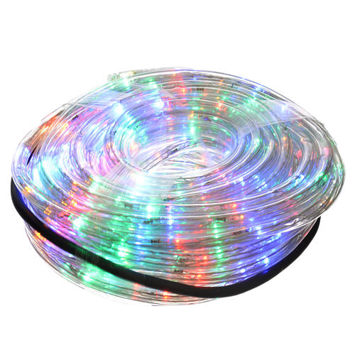 Christmas lights, tube of 15m, multicoloured, for indoor/outdoor, programmable 1