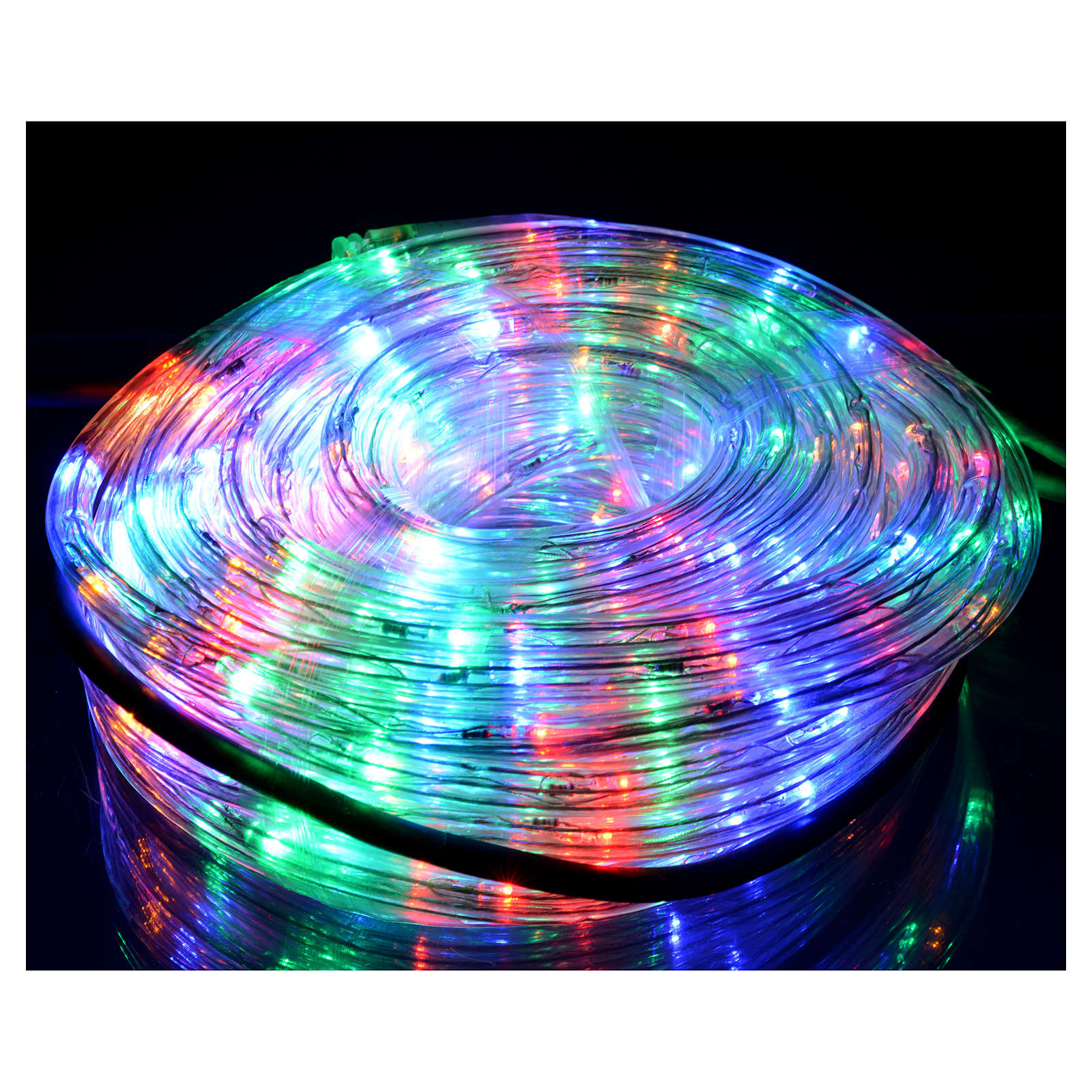Luce natalizia tubo led 15mt multicolor program int est 3