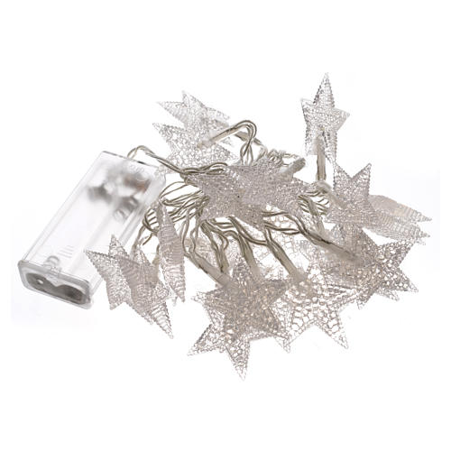Christmas lights 20 star lights, ice white for indoor use 3