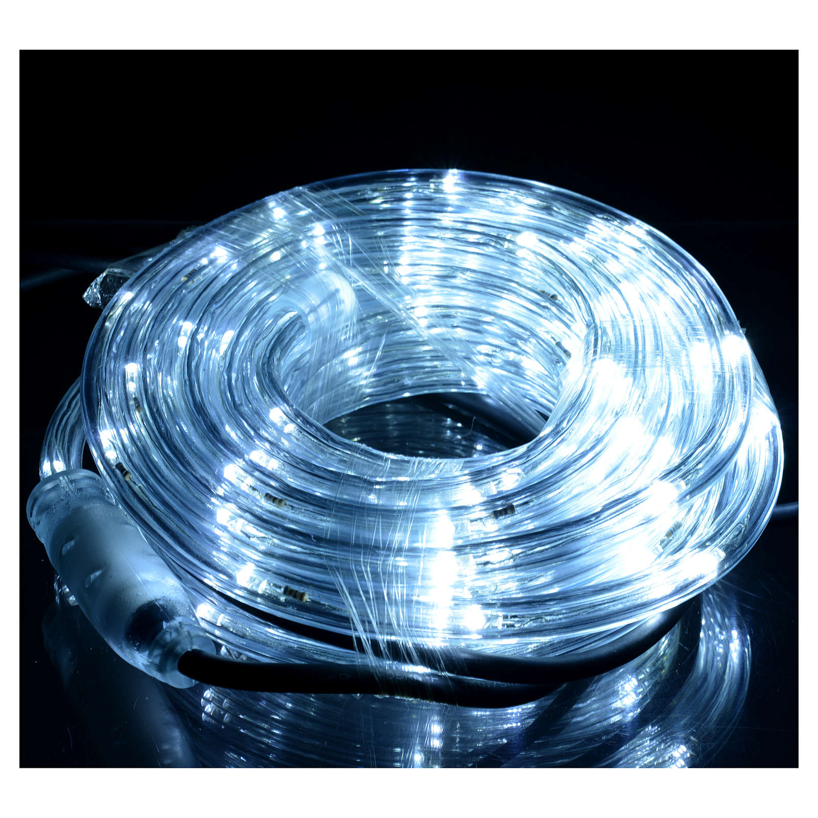Luce Natale tubo led 6mt bianco ghiaccio programmabile int est 3