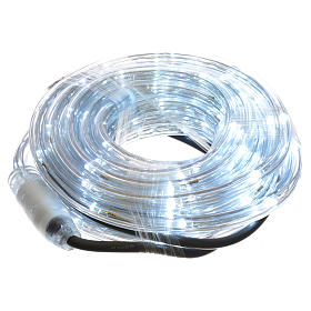 Christmas lights, tube of 6m, ice white, for indoor and outdoor use, programmable s1
