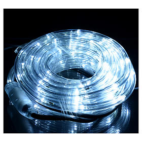 Christmas lights, tube of 6m, ice white, for indoor and outdoor use, programmable s2