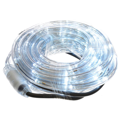 Christmas lights, tube of 6m, ice white, for indoor and outdoor use, programmable 1