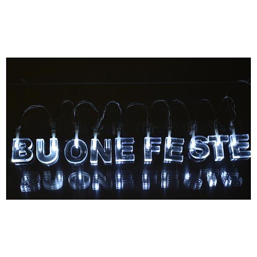 Indoor Christmas light, BUONE FESTE, ice white 2