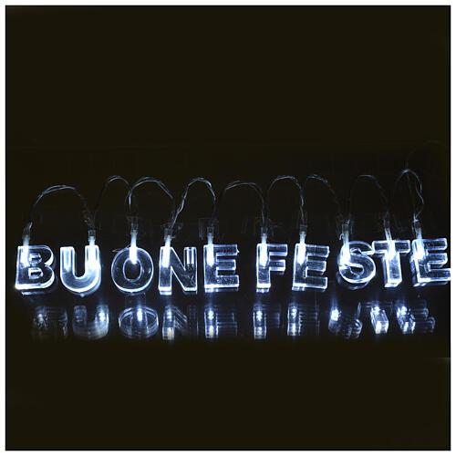Indoor Christmas light, BUONE FESTE, ice white 1