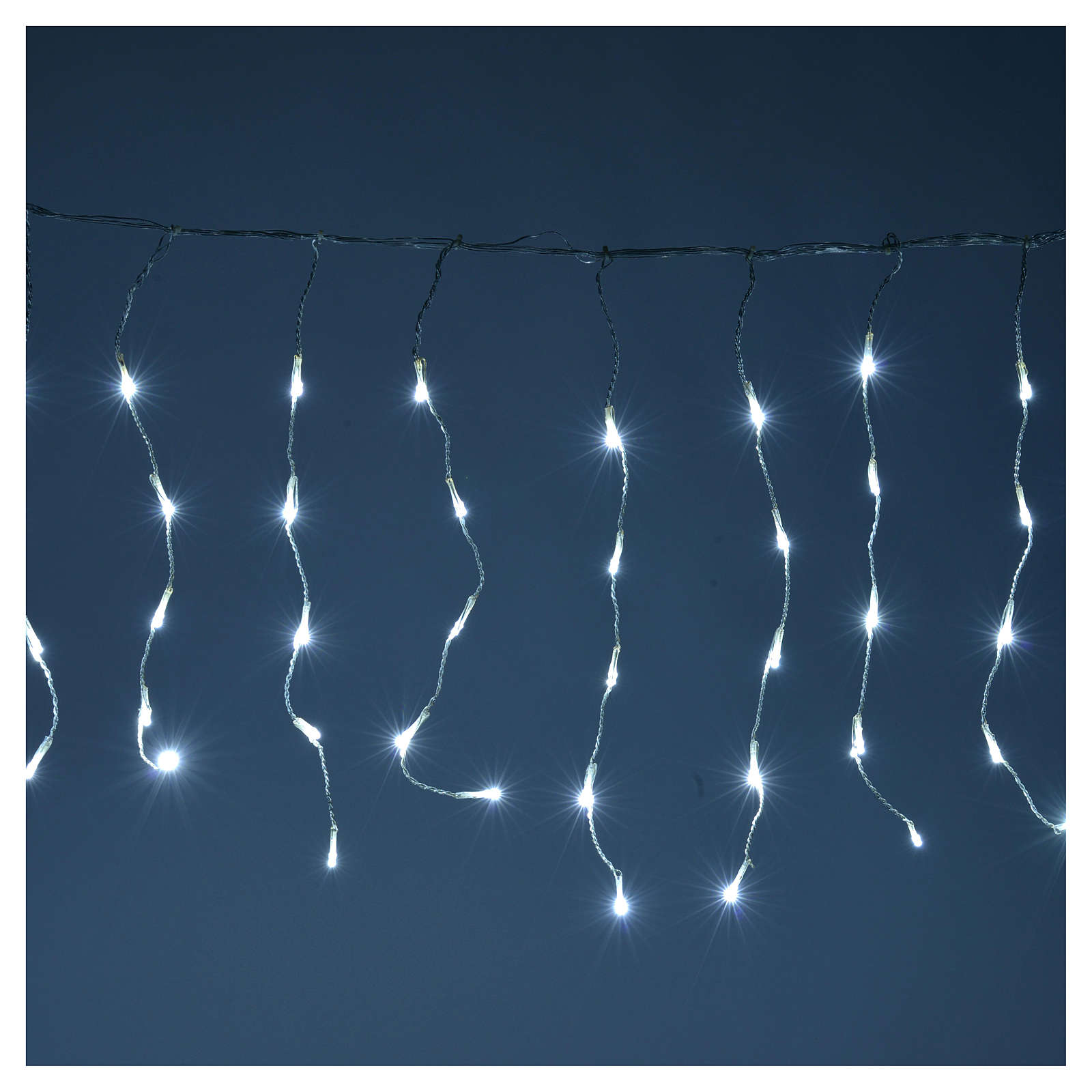 Christmas LED curtain, 110 LED, ice white, for outdoor use, programmable 3