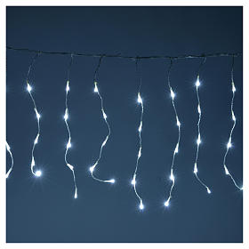 Christmas LED curtain, 110 LED, ice white, for outdoor use, programmable s2