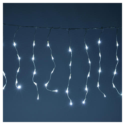 Christmas LED curtain, 110 LED, ice white, for outdoor use, programmable 2
