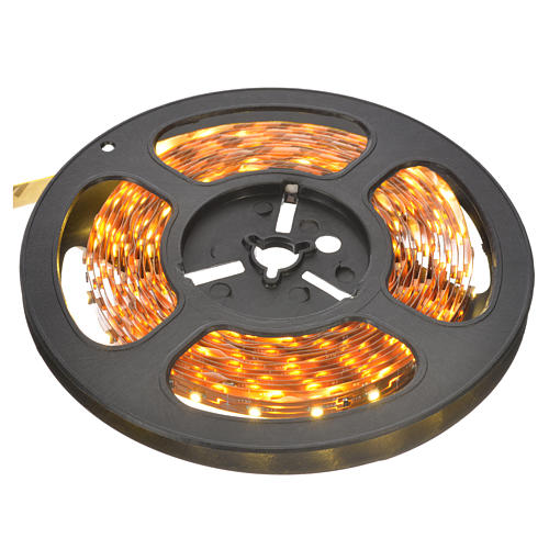Fairy lights 5m strip with 300 warm white LED for indoor use with adhesive 1
