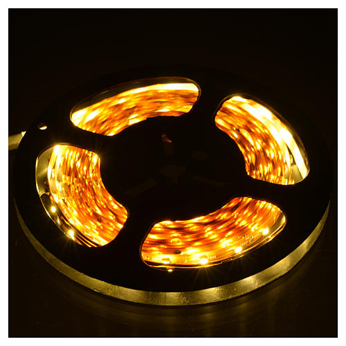 Fairy lights 5m strip with 300 warm white LED for indoor use with adhesive 2