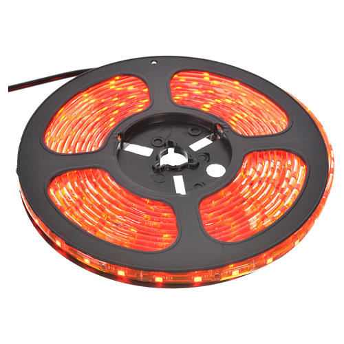Christmas lights 5m strip with 300 LED for indoor use with adhesive, red 1