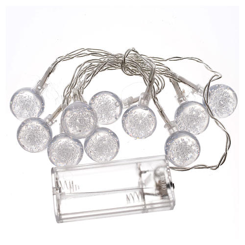 Illuminazione di Natale set 10 sfere led bianco caldo 3