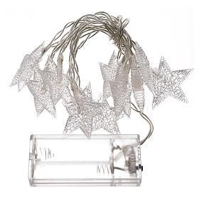 Illuminazione di Natale set 10 stelle led bianco ghiaccio s3