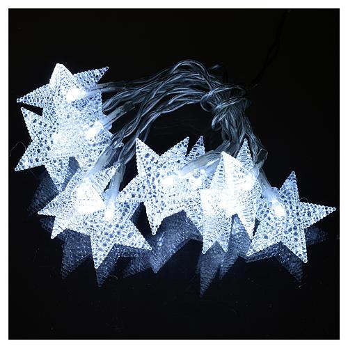 Illuminazione di Natale set 10 stelle led bianco ghiaccio 2