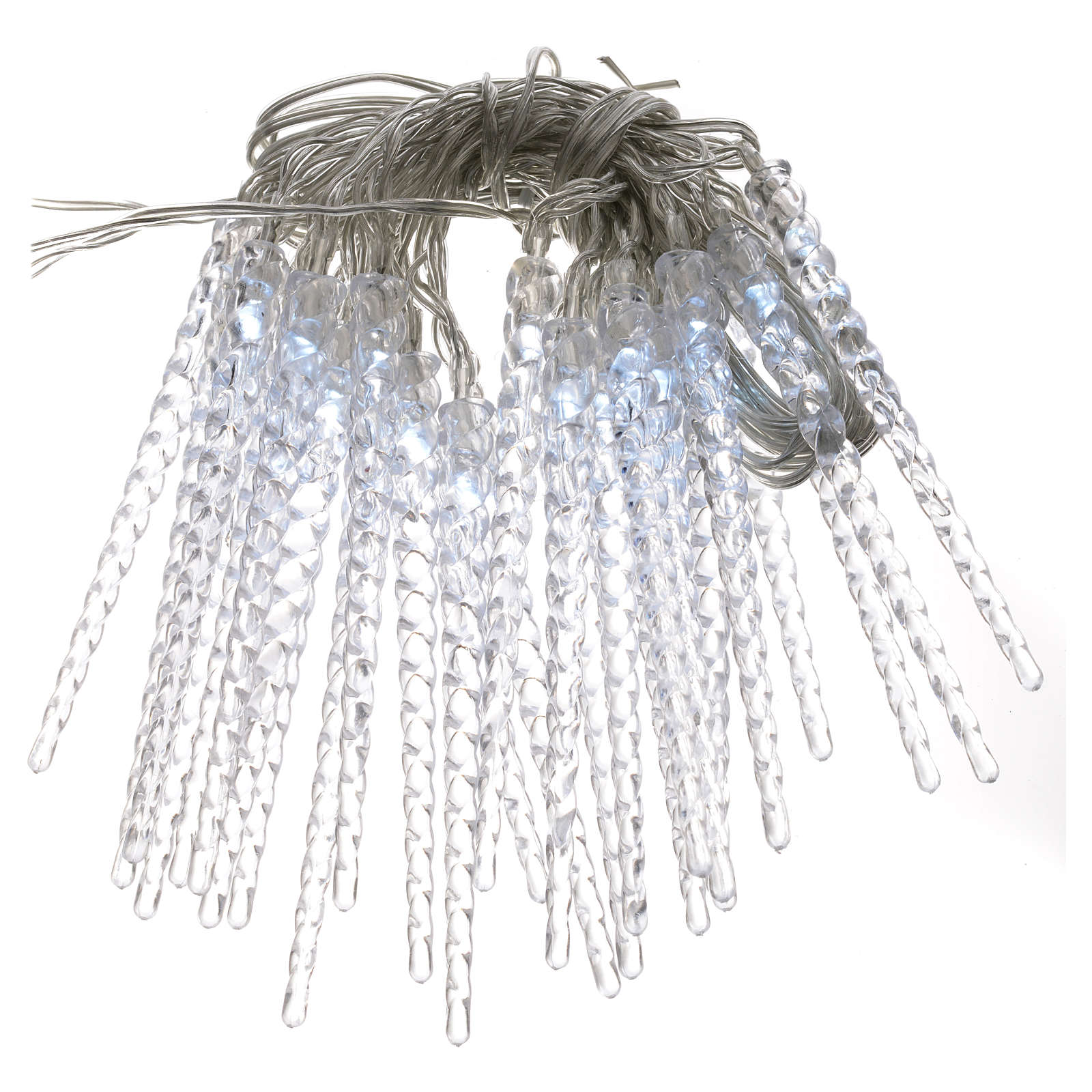 Christmas lights, 24 LED icicles, programmable indoor/outdoor use ...