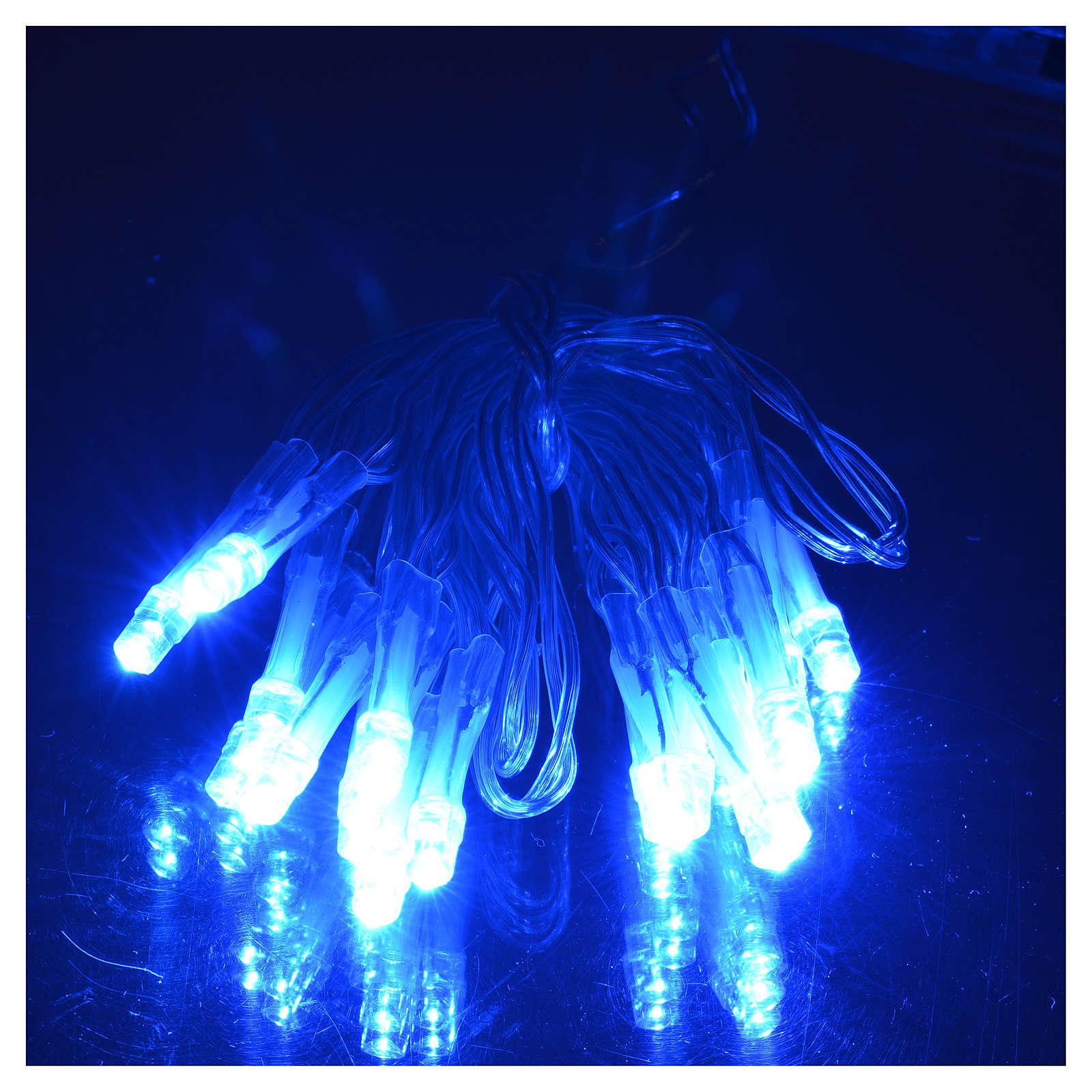Luce natalizia catena a batteria 20 led blu per interni 3