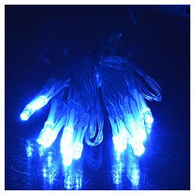 Luce natalizia catena a batteria 20 led blu per interni s2