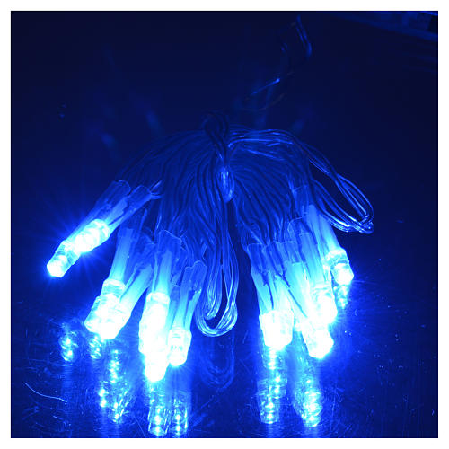 Fairy lights 20 LED blue lights, battery powered for indoor use 2