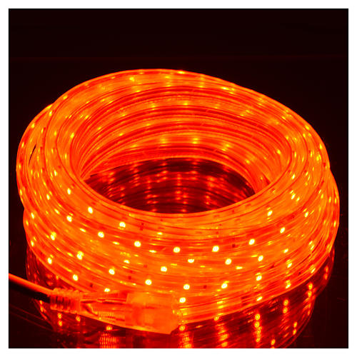 Manguera delgada luces de Navidad 300 LED rojas para interior 2