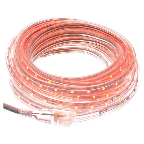 Luce di Natale tubo slim 300 led int rosso 1