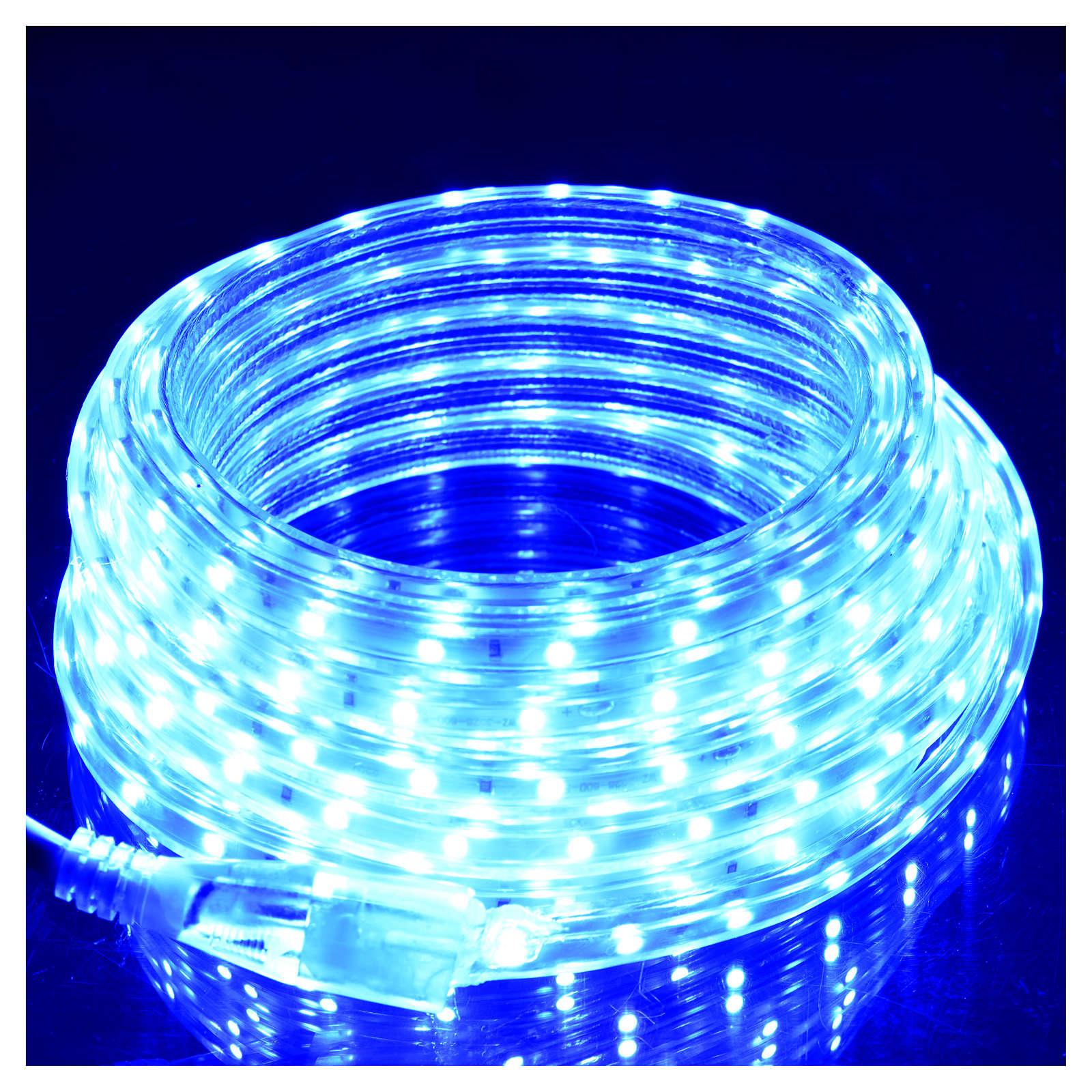 Manguera delgada luces de Navidad 300 LED azules para interior 3