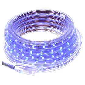 Manguera delgada luces de Navidad 300 LED azules para interior s1