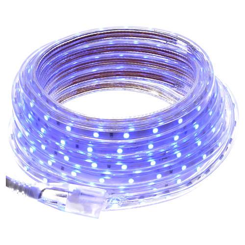 Manguera delgada luces de Navidad 300 LED azules para interior 1